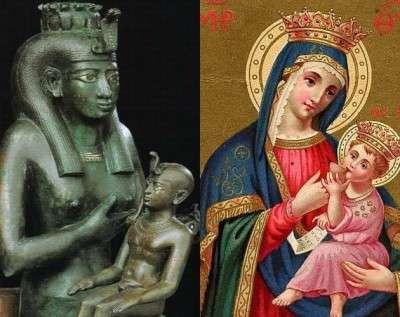 Iside e Maria con bambino