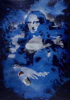 003-BLAK-le-RAT-Mona Lisa with spray can-100