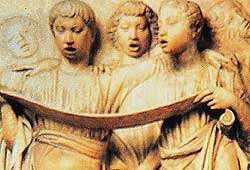 Polifonia: un coro di tre voci sovrapposte.