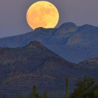 Superluna in Arizona - Usa.