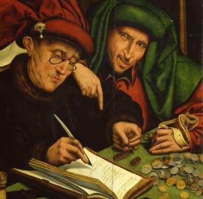 "Marinus van Reymerswae: ""Gli usurai"", 1540"