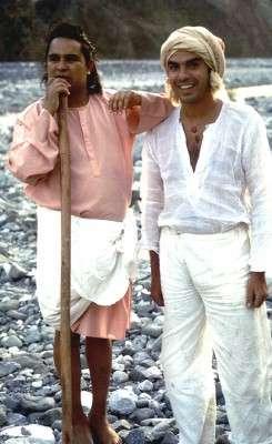 Babaji con Filippo Falzoni, che l'ha seguito per molti anni.