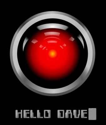 """Hal 9000, il computer di """"2001: Odissea nello spazio""""."""