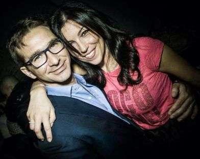 Alberto con la moglie Chiara.