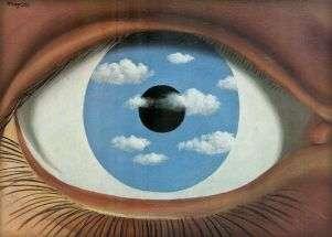 """Magritte """"Il falso specchio"""" (1935)."""