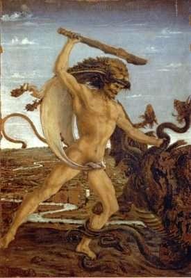 Antonio Pollaiolo. Ercole e l'idra.