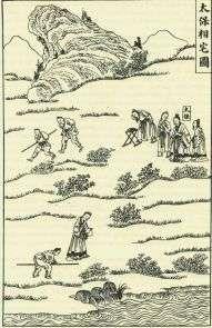 Un'immagine sul Feng Shui della Dinastia Ching.
