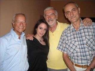 Da sini: Giorgio Cozzi, Amalia, Alberto Serena e William Giroldini