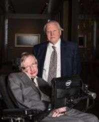 Stephen Hawking con il